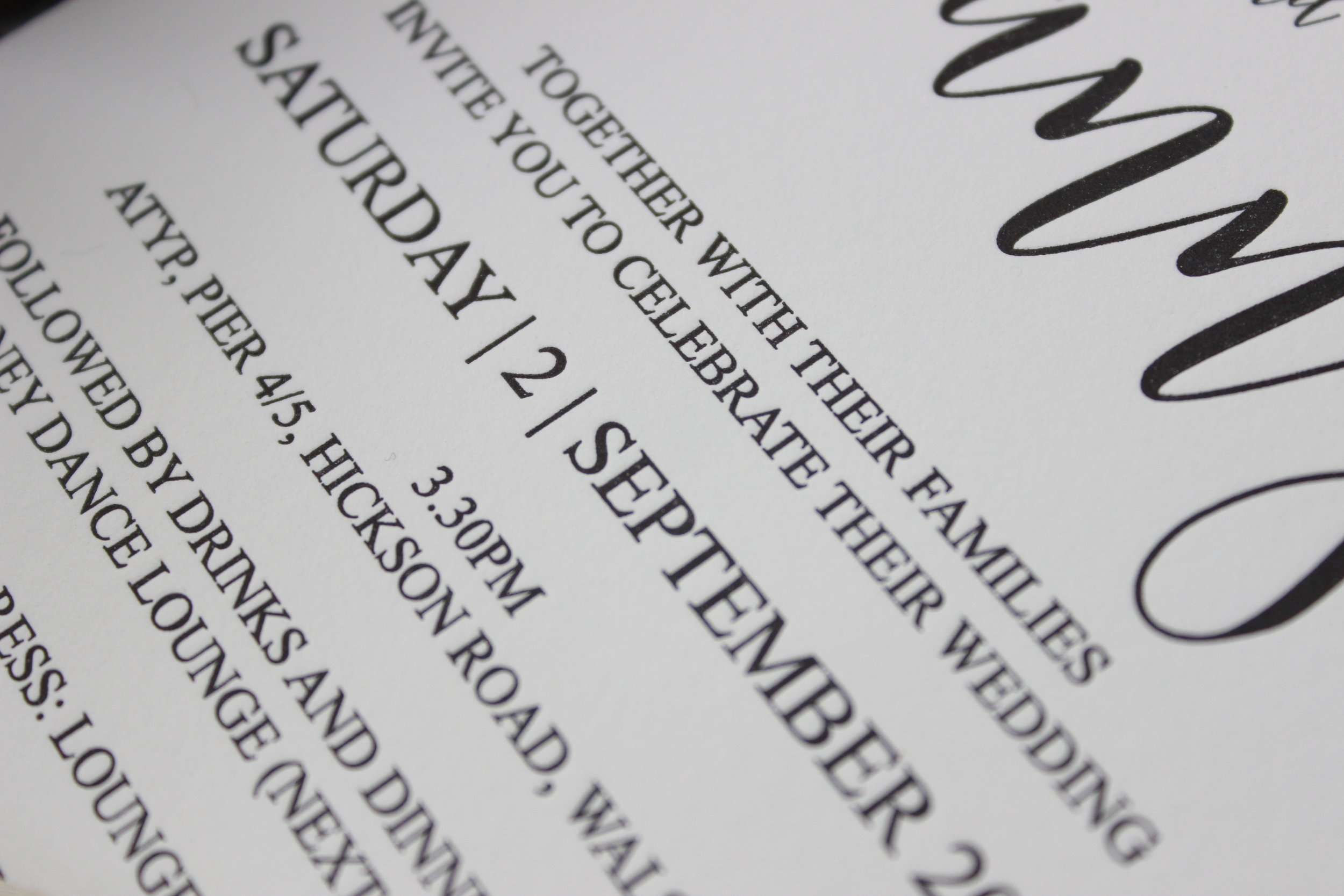 - This collection is print ready. Give it the personal touch, by changing the font colour. This design can also have to option for gold foil print.Available as a full set of event stationery: