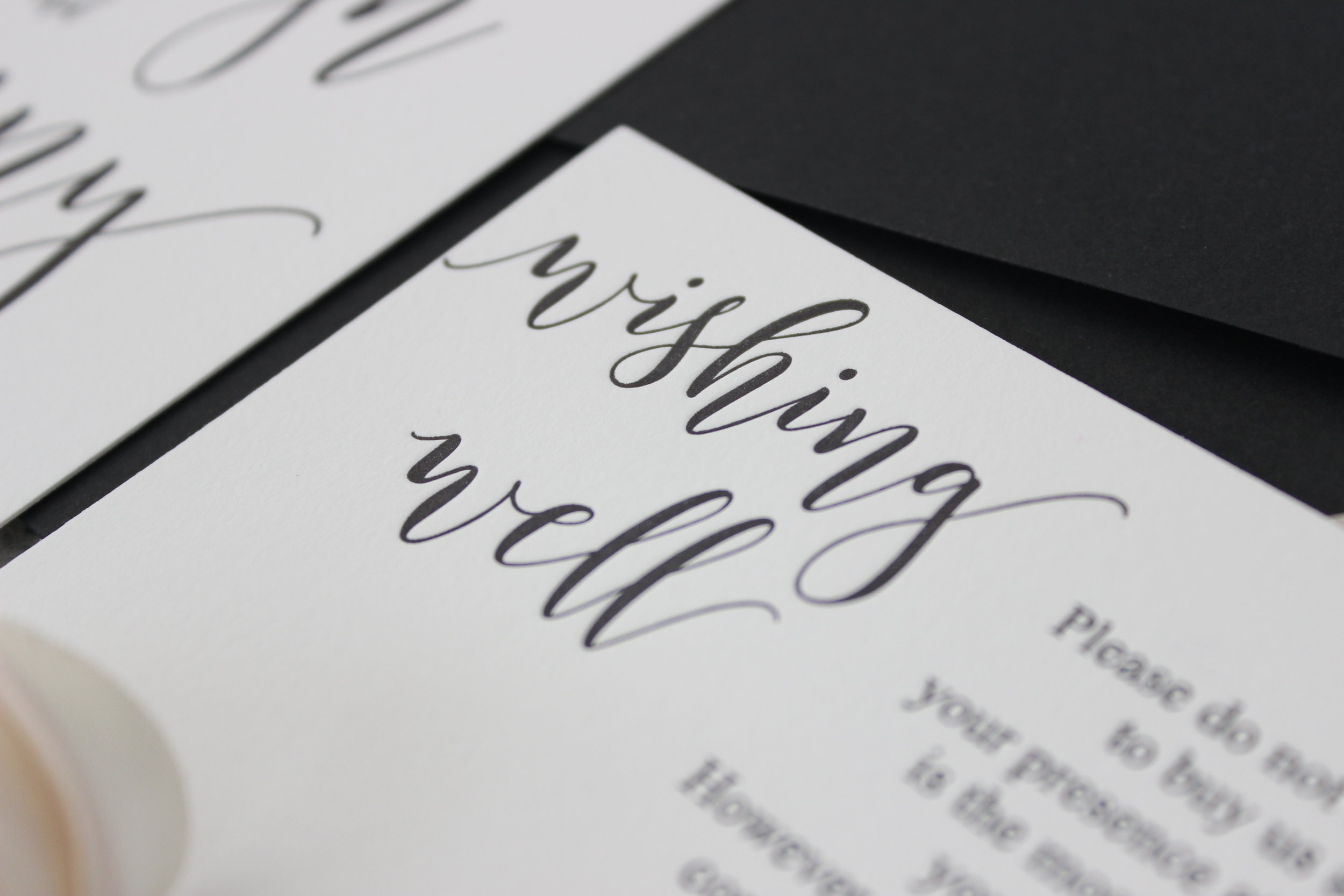 - Letterpress print creates a timeless design to accompany any occasion. This modern minimalist design brings simplicity to mind, and with it a sense of uninterrupted beauty.