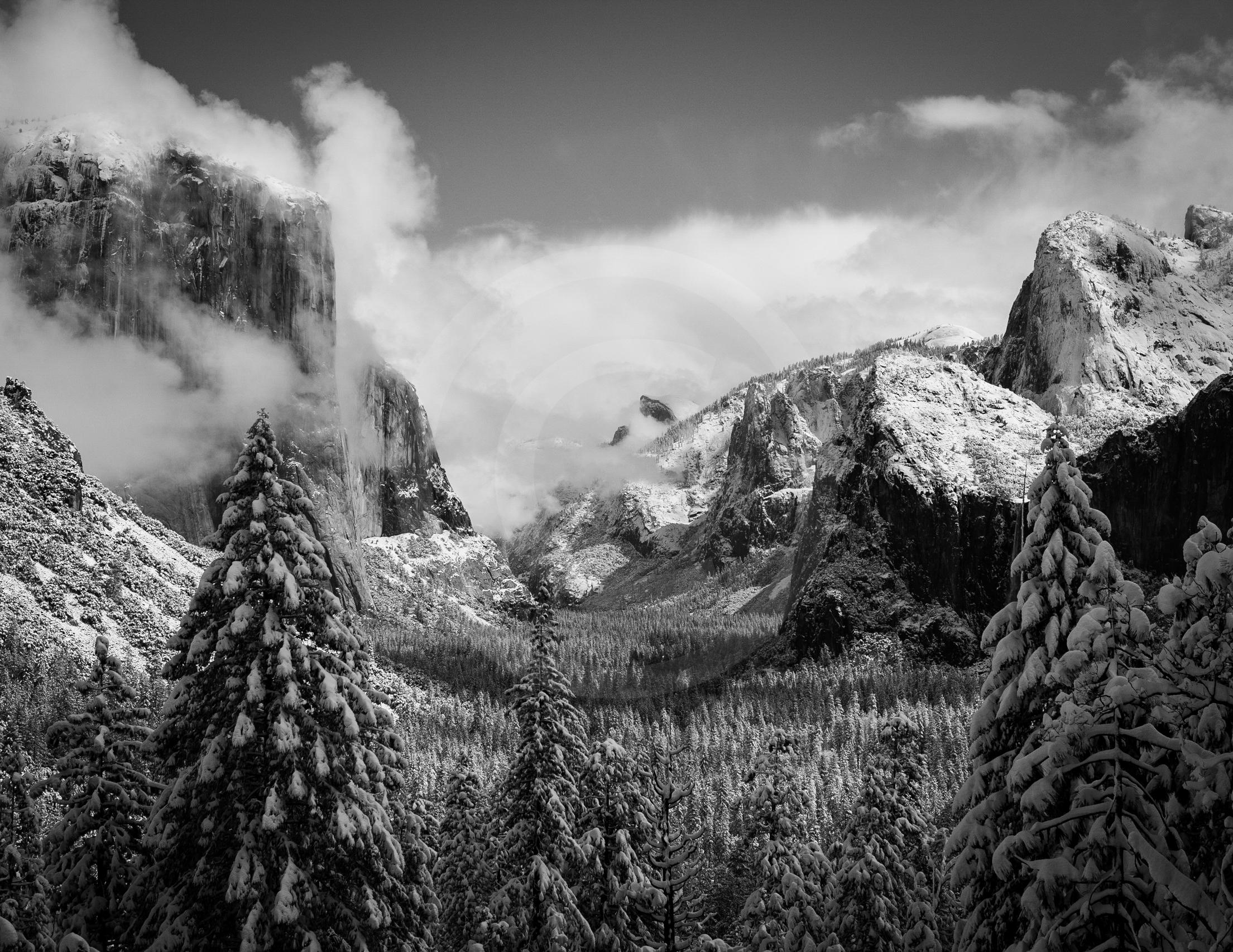 """Yosemite Valley """"Snowstorm"""""""
