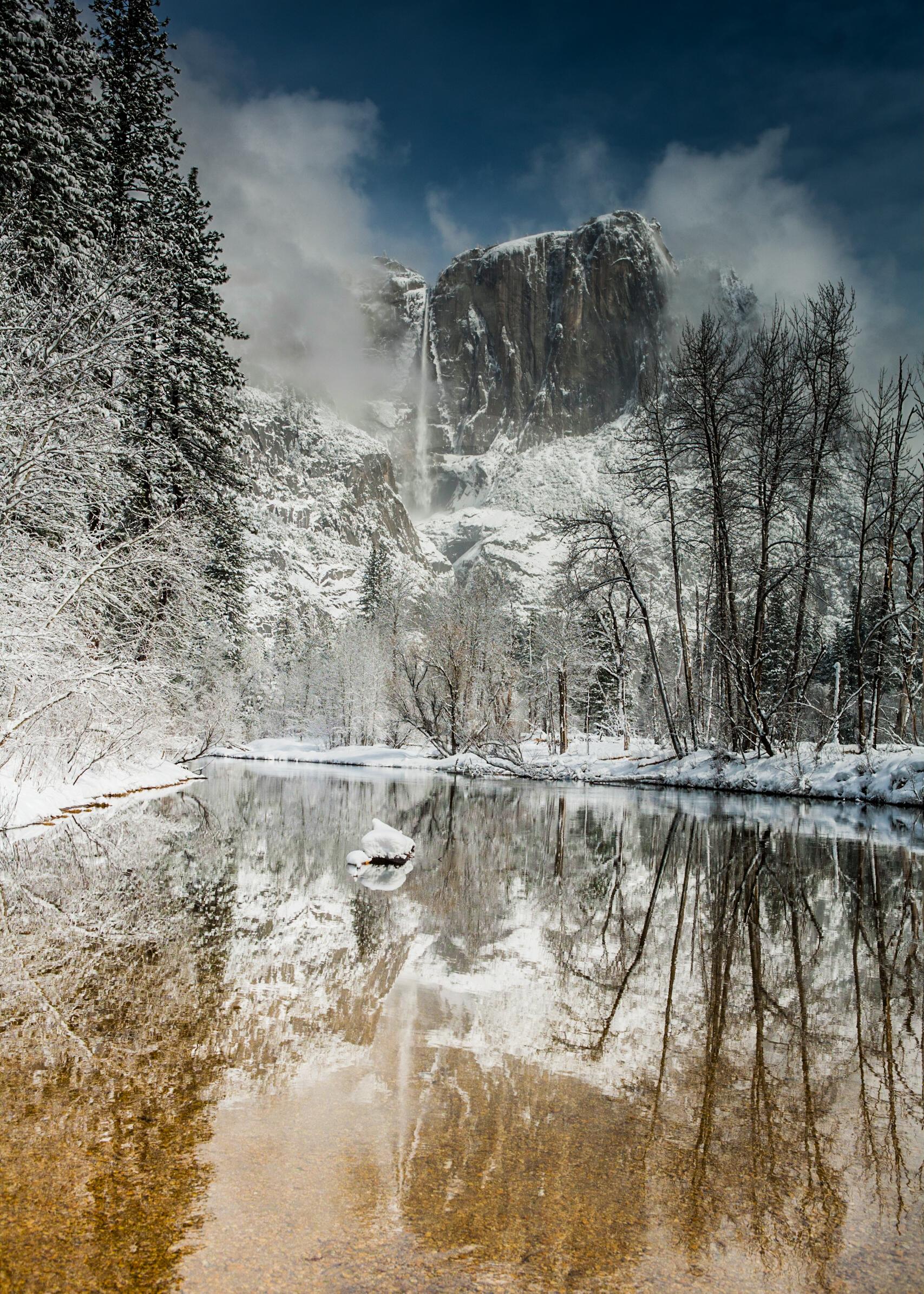 """Upper Yosemite Falls """"Reflection"""""""