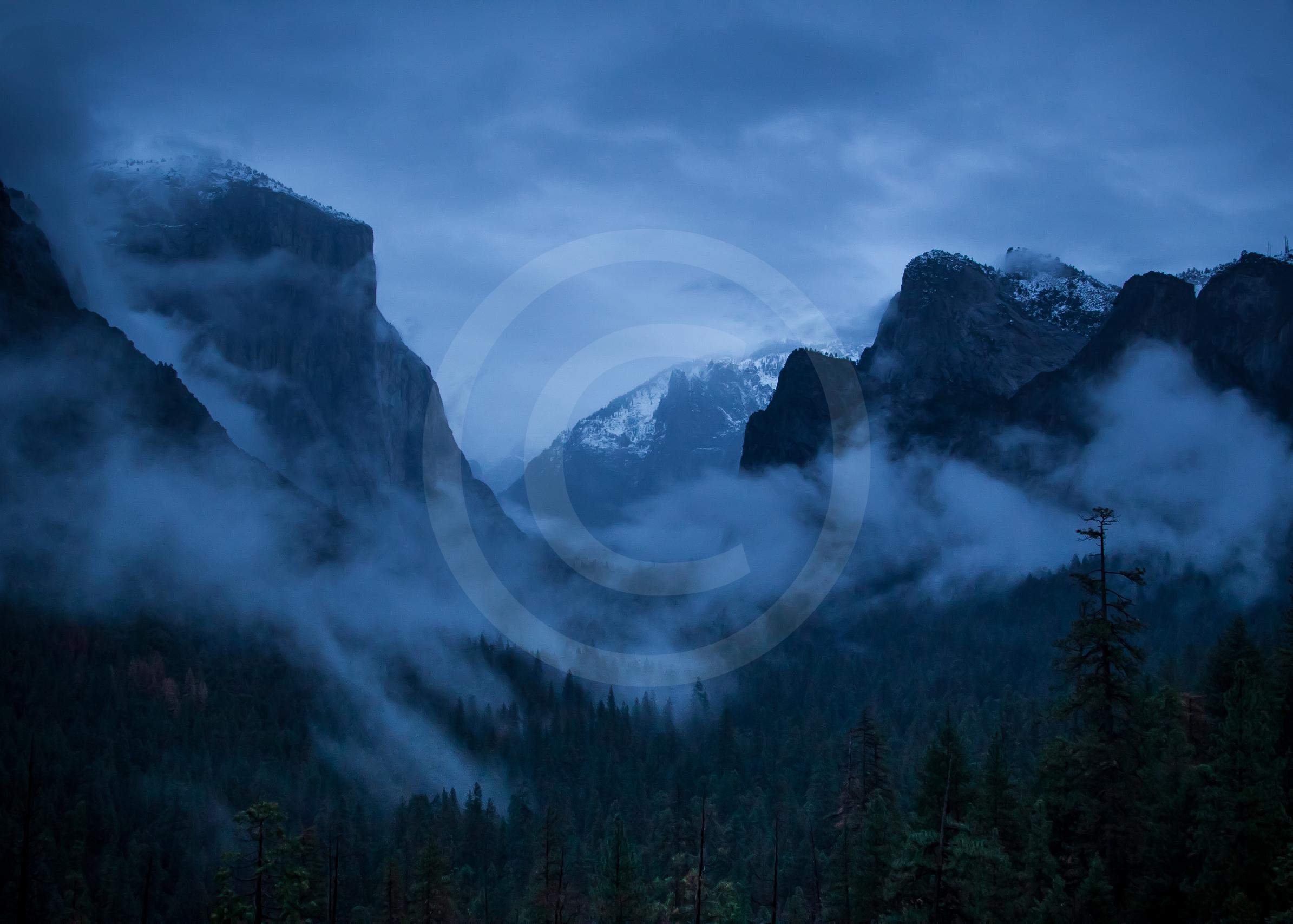 "Yosemite Valley ""Blue Hour"""