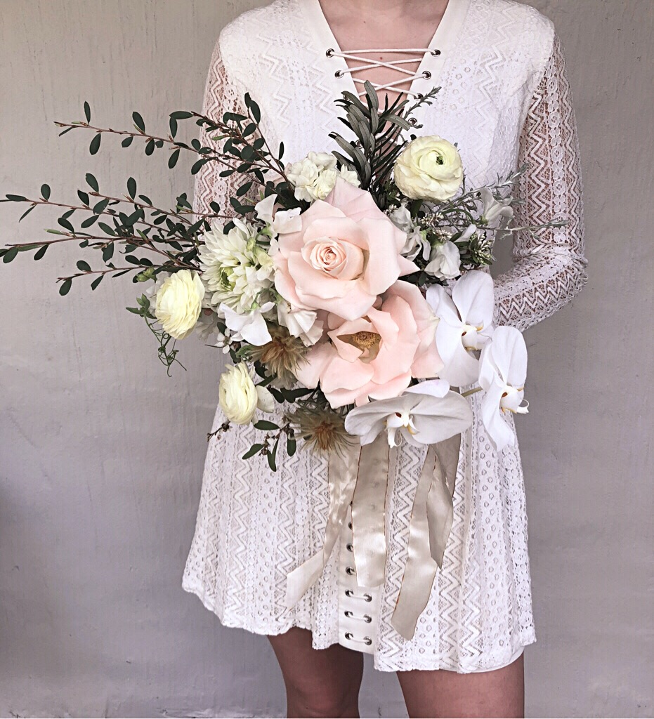 Orchid and rose bouquet.JPG