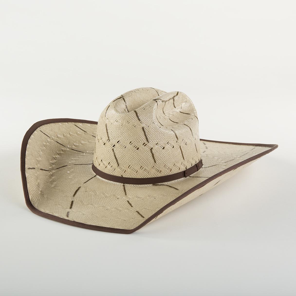 Pinwheel Tan - Tan Shantung, brim width 3 - 5 in.