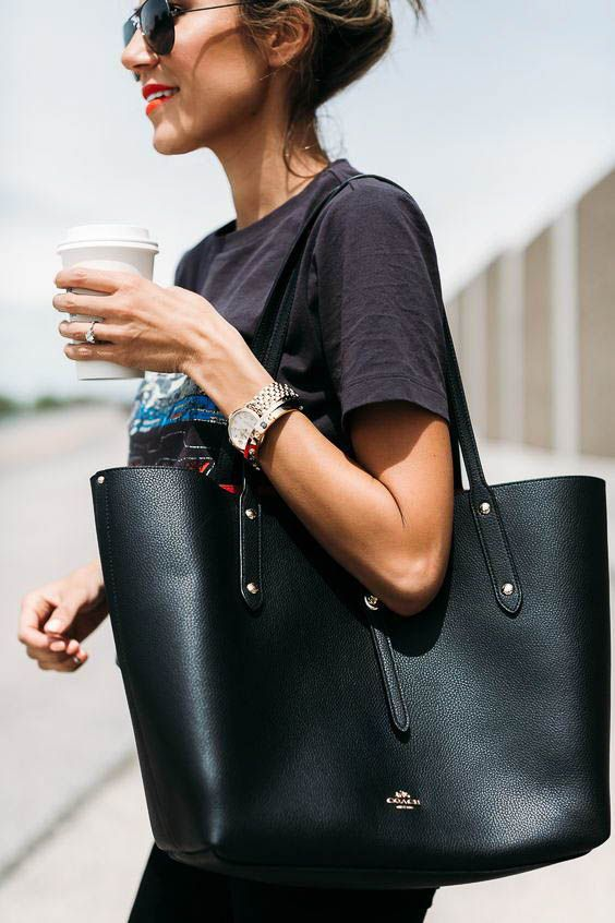 LARGE BLK TOTE