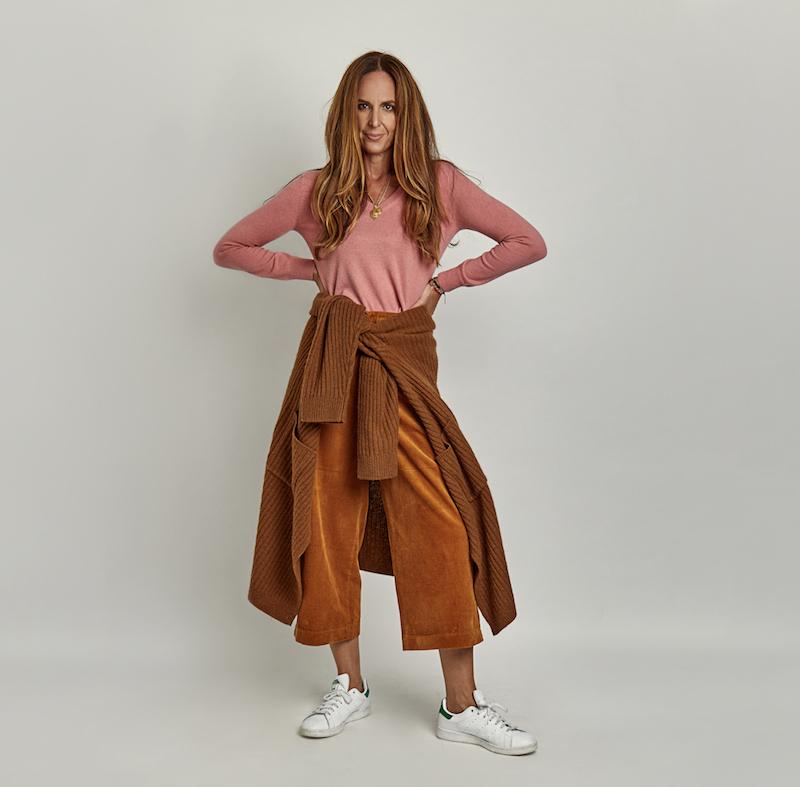 Cord Fashion Pant + Slouchy Cardigan
