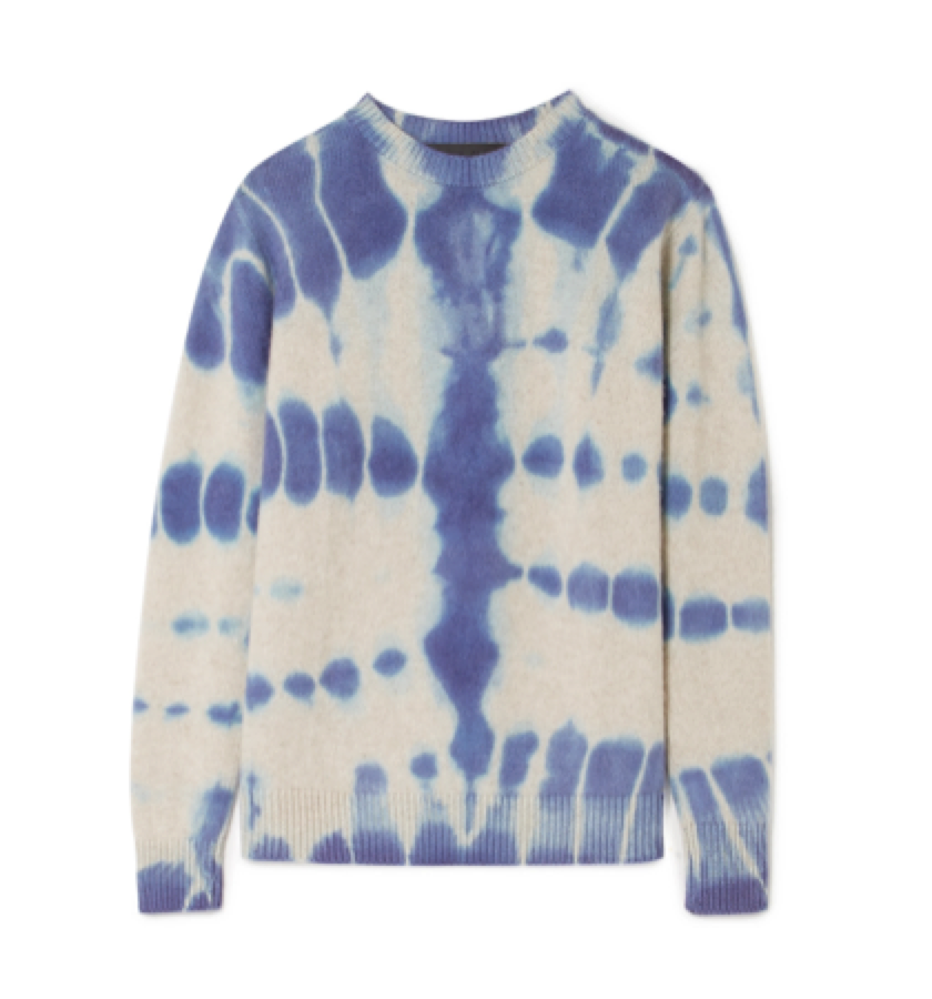 The Elder Statesman-  Tie-dyed Cashmere Sweater