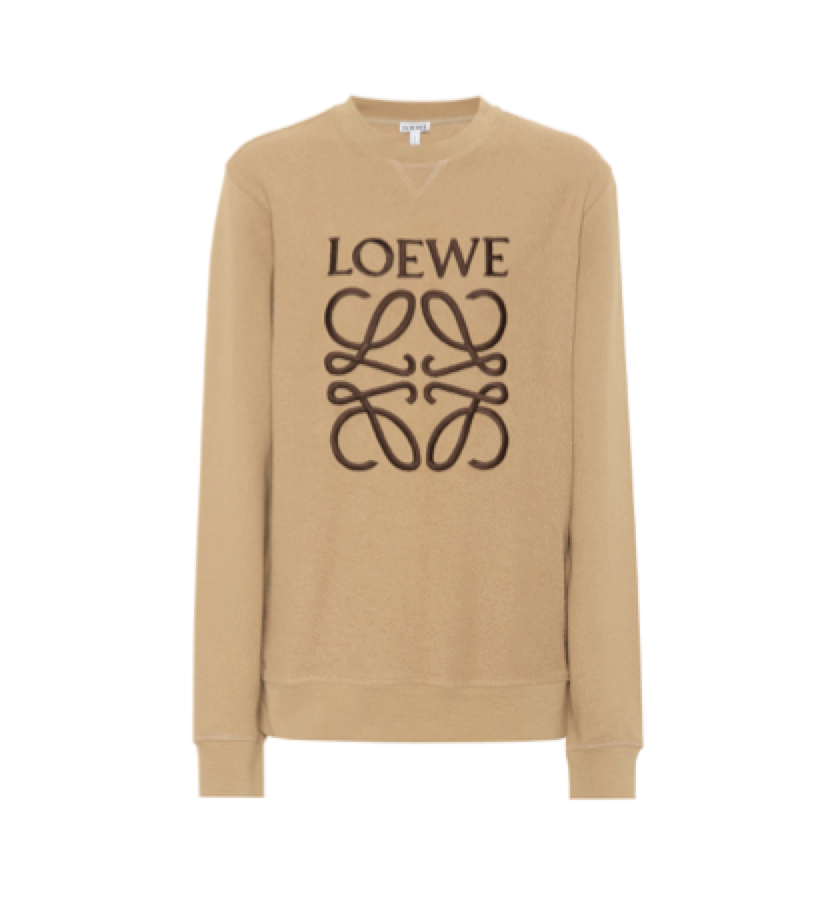 Loewe -   Embroidered Anagram Logo Sweatshirt