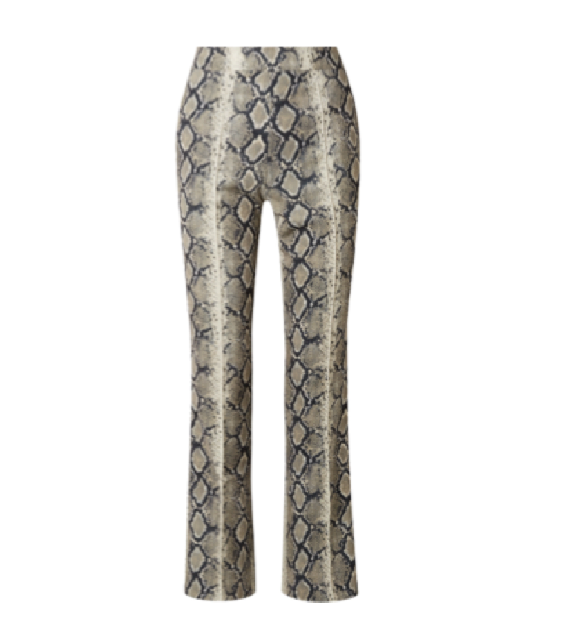 We11done  -  Snake-print Stretch-jersey Flared Pants