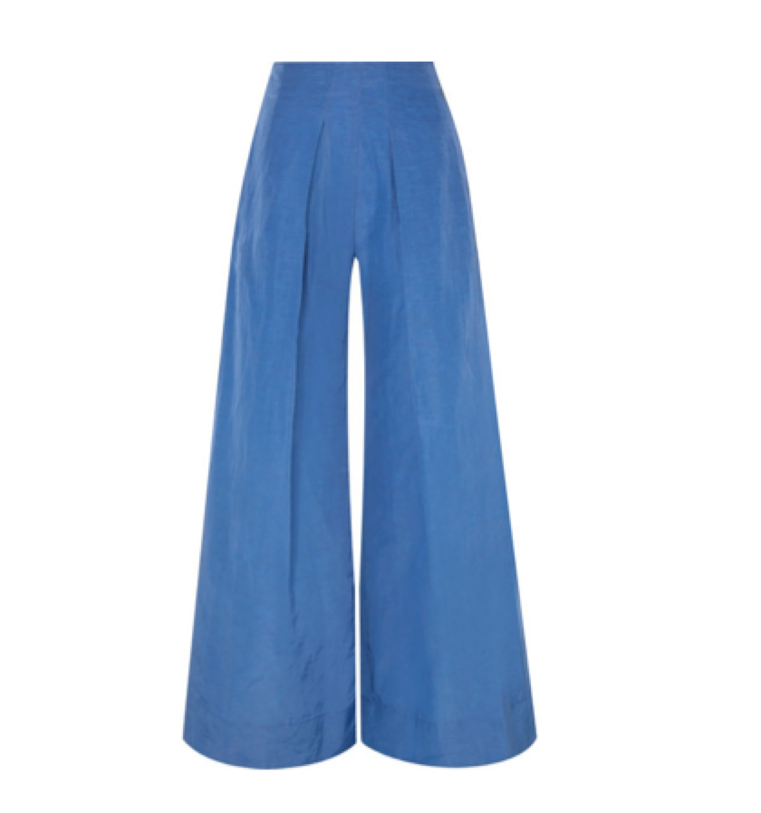 Cult Gaia -  Pleated Taffeta Wide-leg Pants