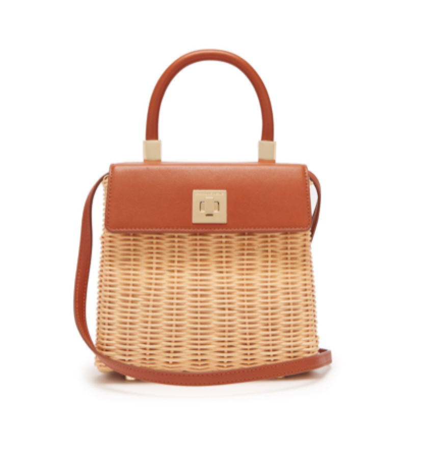 Sparrows Weave -  The Classic wicker and leather top-handle bag
