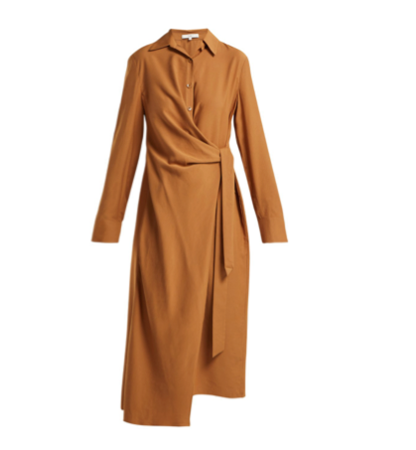Tibi -  Twill Wrap Dress