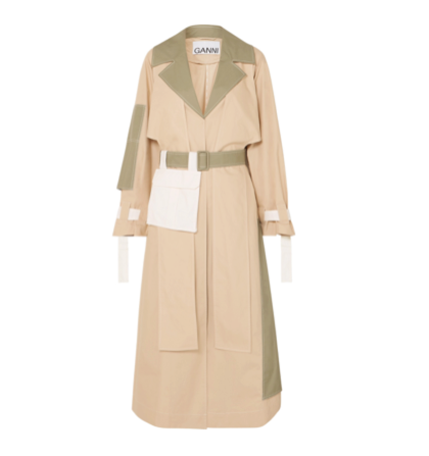 Ganni -  Cotton Trench Coat