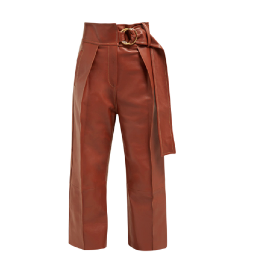 Petar Petrov -  Haena Wide Leg Leather Trousers