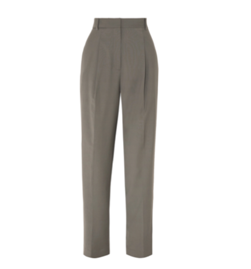Tibi -  Pleated Crepe Tapered Pants