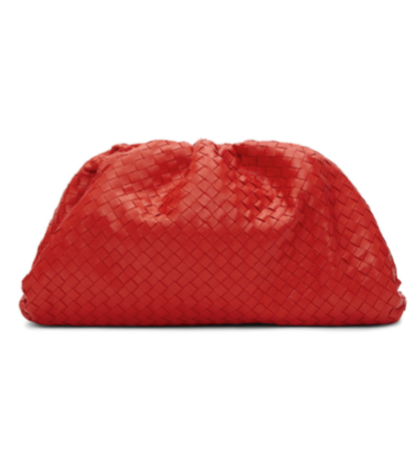 Bottega Veneta  - Red Intrecciato Clutch