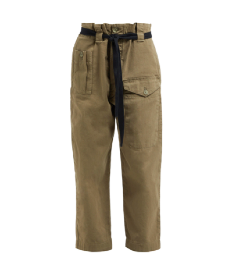 Raey -  Front Pocket Cotton Twill Trousers
