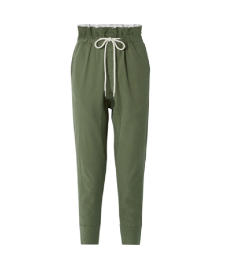 Bassike -   Dobby Cotton-blend Pants
