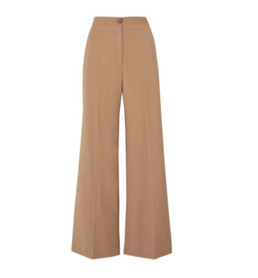 Alexa Chung -  Ludlow Wool-blend Wide-leg Pants
