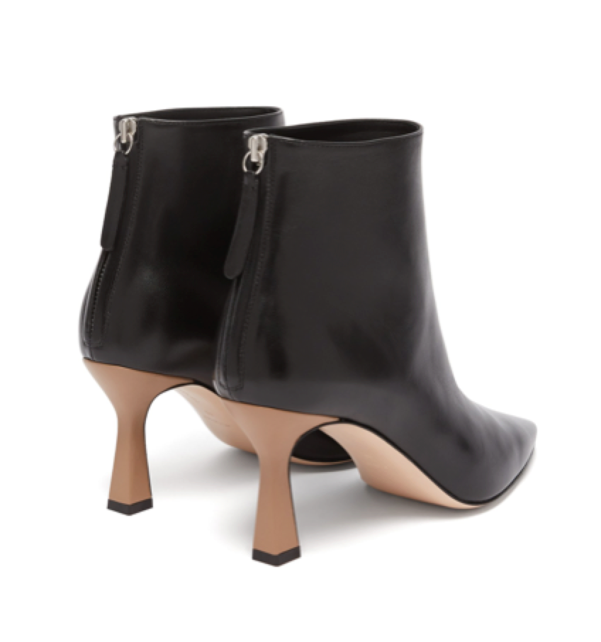 Wandler -  Lina Point Toe Leather Ankle Boots