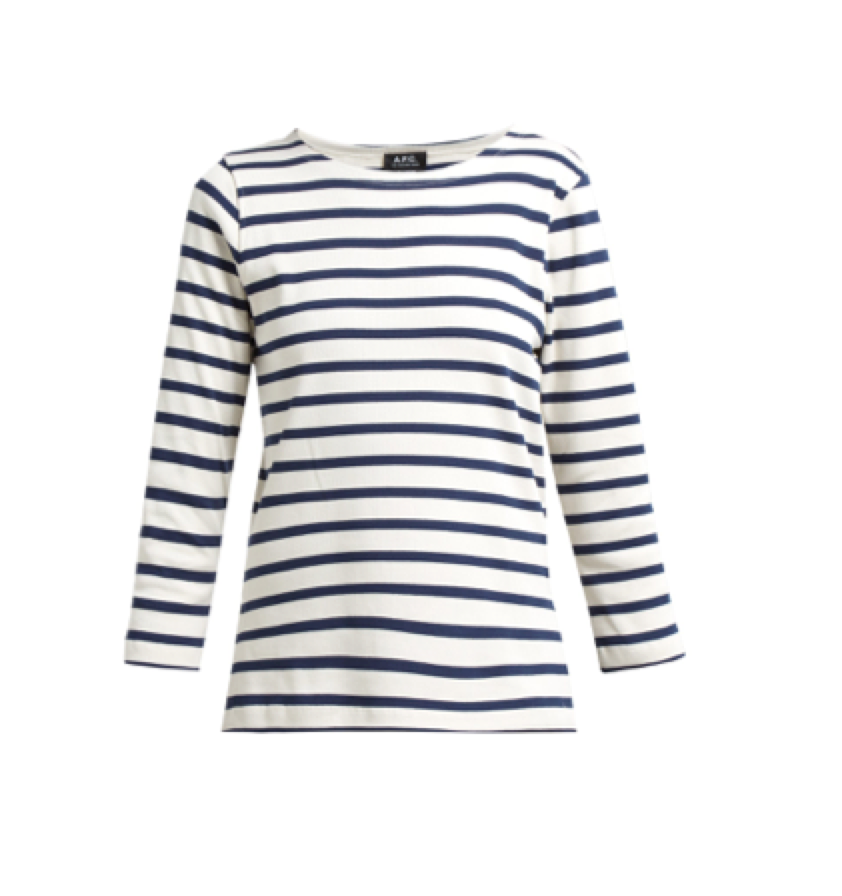 A.P.C. -  Breton Stripe Long Sleeved T Shirt