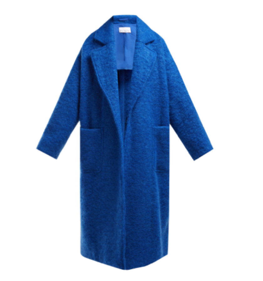 Raey -  Dropped Shoulder Wool Blend Blanket Coat