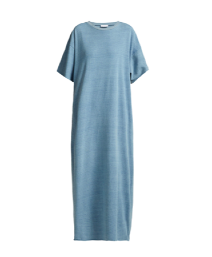 Raey -  Denim Jersey Maxi T Shirt Dress