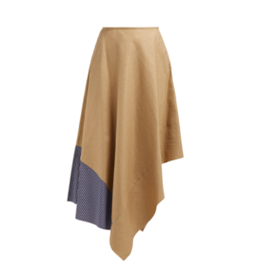 Loewe -  High Rise Asymmetric Panelled Skirt
