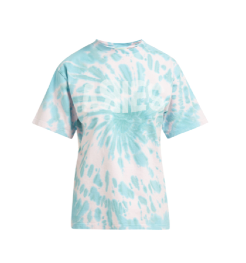 Aries -  Logo Print Tie Dye Cotton T Shirt