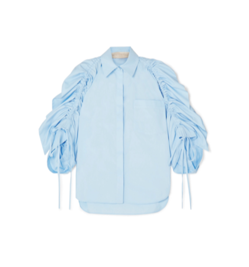 Antonio Berardi R uched Cotton-poplin Shirt