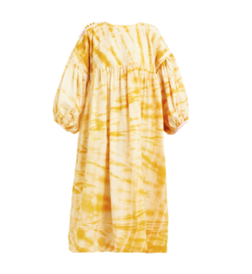 2259b745d5f2 Story Mfg - Mon Tie Dye Cotton Smock Midi Dress