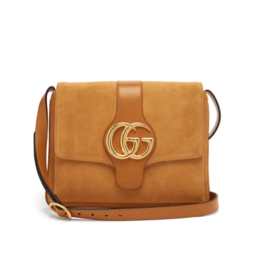 3f2684b1a Gucci - Arli Gg Suede And Leather Cross Body Bag