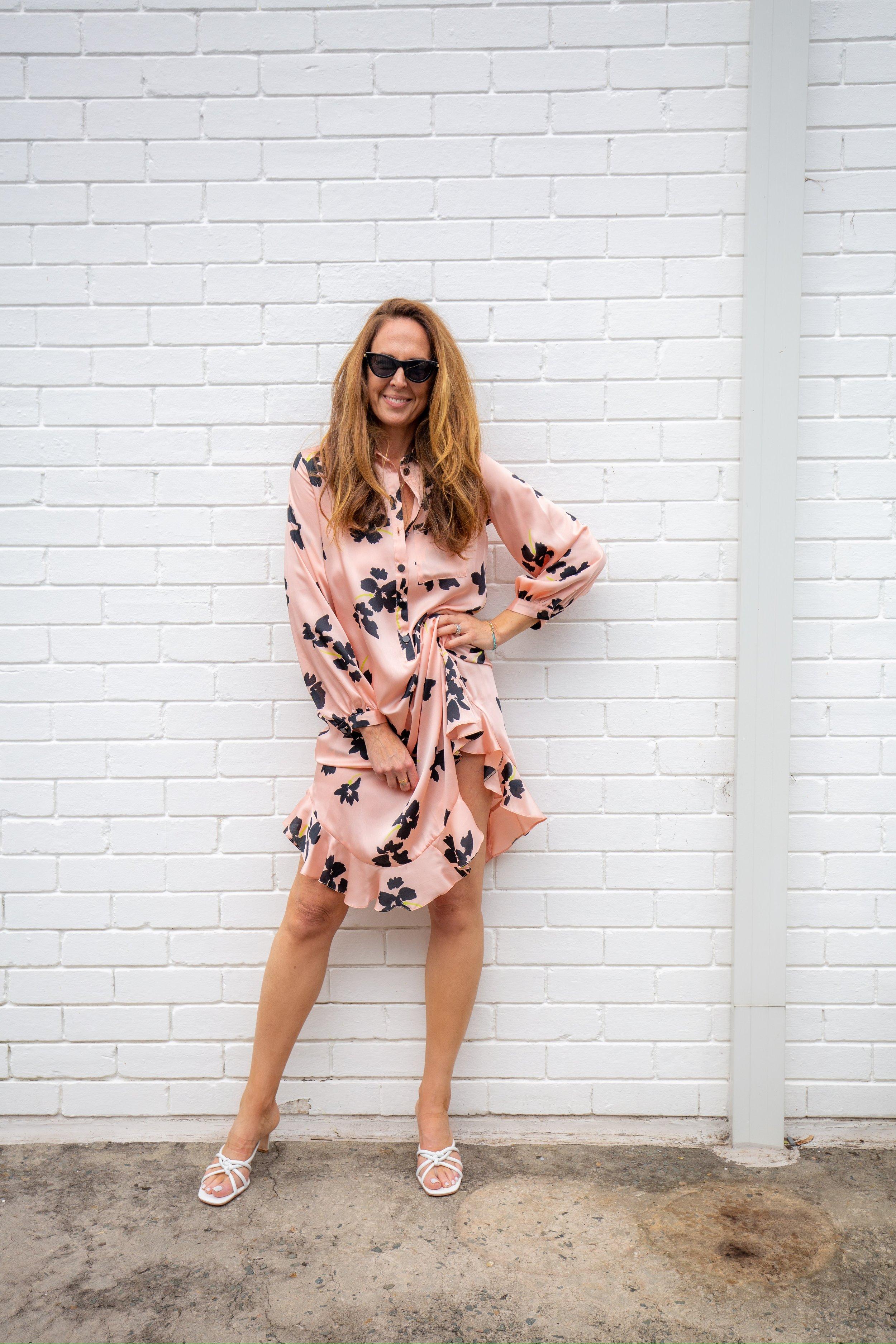 Topshop Floral Frill Hem Midi Dress