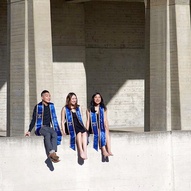 """We went fully black to symbolize """"RIP UCSD years"""". But looking back, I had so much fun with these goofy bunch. Grateful to have become such good friends with these two lovely people. Pictures taken by the ever so fabulous @jl_jooyce"""