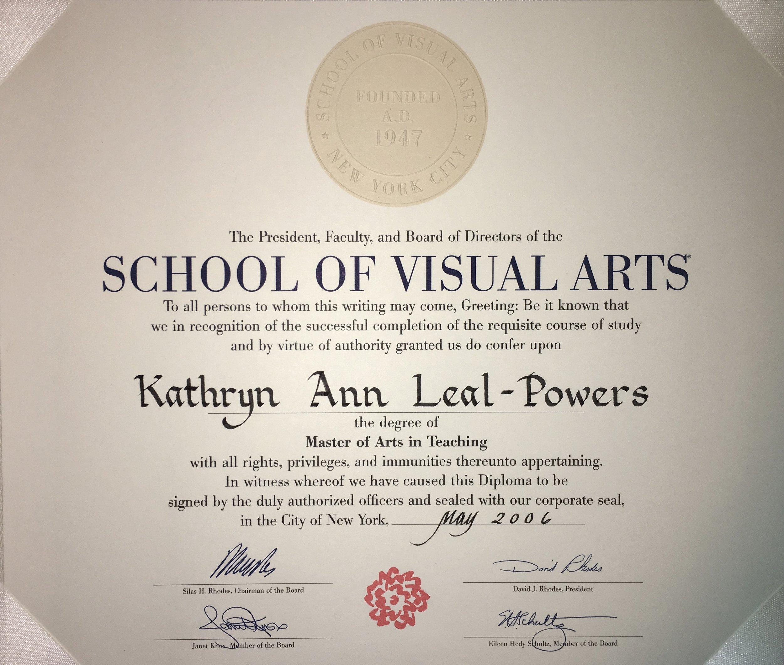 2006 Graduating Class, Master of Arts in Teaching