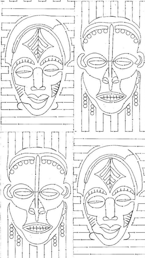 Sketches - Begin your sketches with a light pencil outline so it will be easy to make adjustments as needed.  If you really like your mask design, then you can do other sketches to test  color choices.