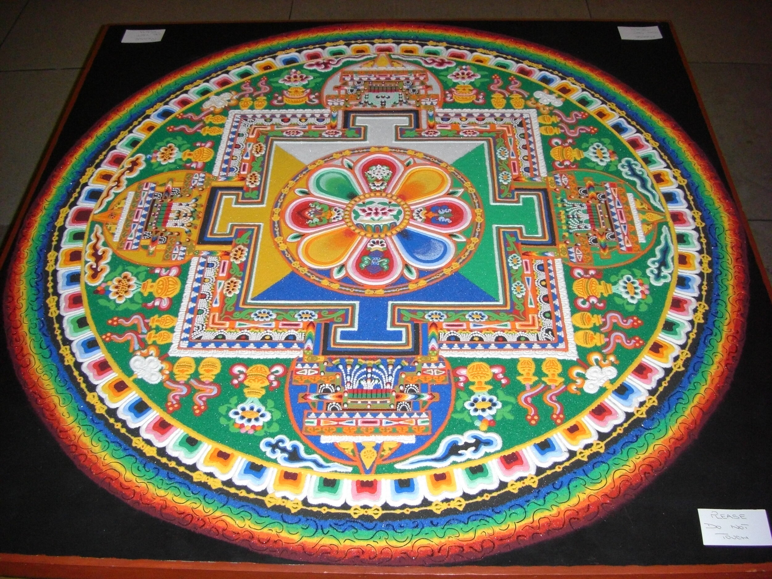 Tibetan Buddhist sand mandala.
