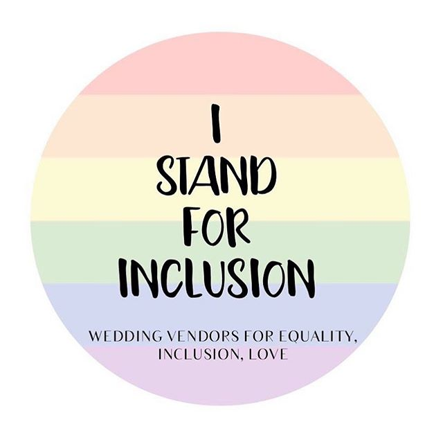 You'd think this was standard practice but it's still not. So just so you all know, Glitter Celebrants stand for inclusion in all forms.
