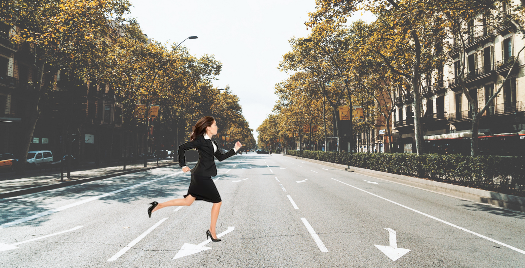Woman Running Across Road.png