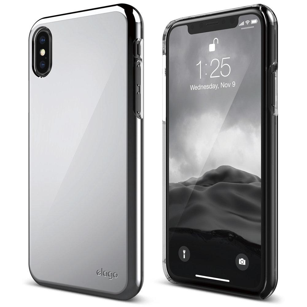 Slim Fit 2 Case For Iphone X Chrome Elago