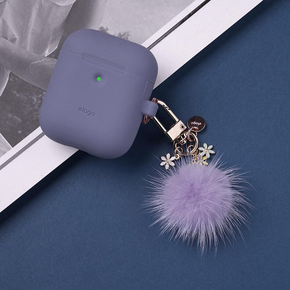 Cactus Accesorio Compatible con AirPods de Apple 1 y 2 Dijes para AirPods Llavero de elago Monedero Bolso de Mano Bolsa autom/óvil Mochila