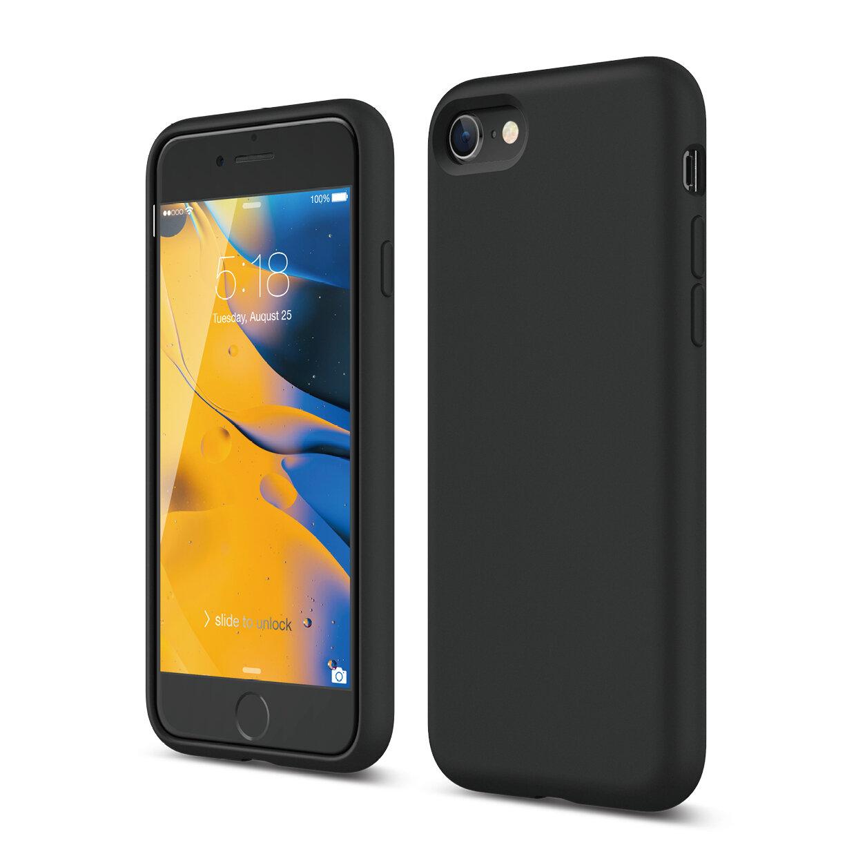 iPhone SE 2020 Liquid Silicone Case (Black) — elago