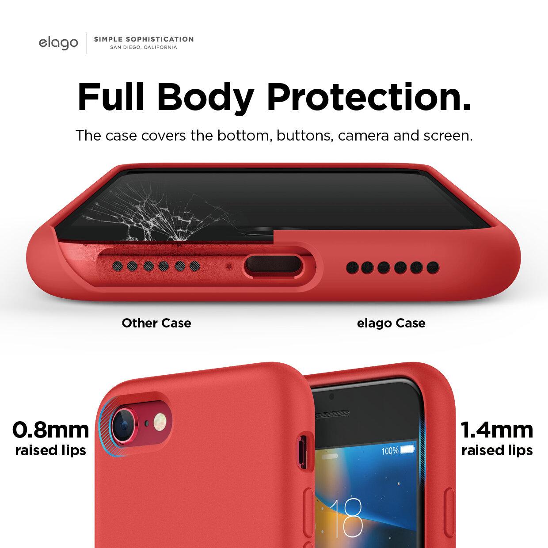 iPhone SE 2020 Liquid Silicone Case (Red) — elago