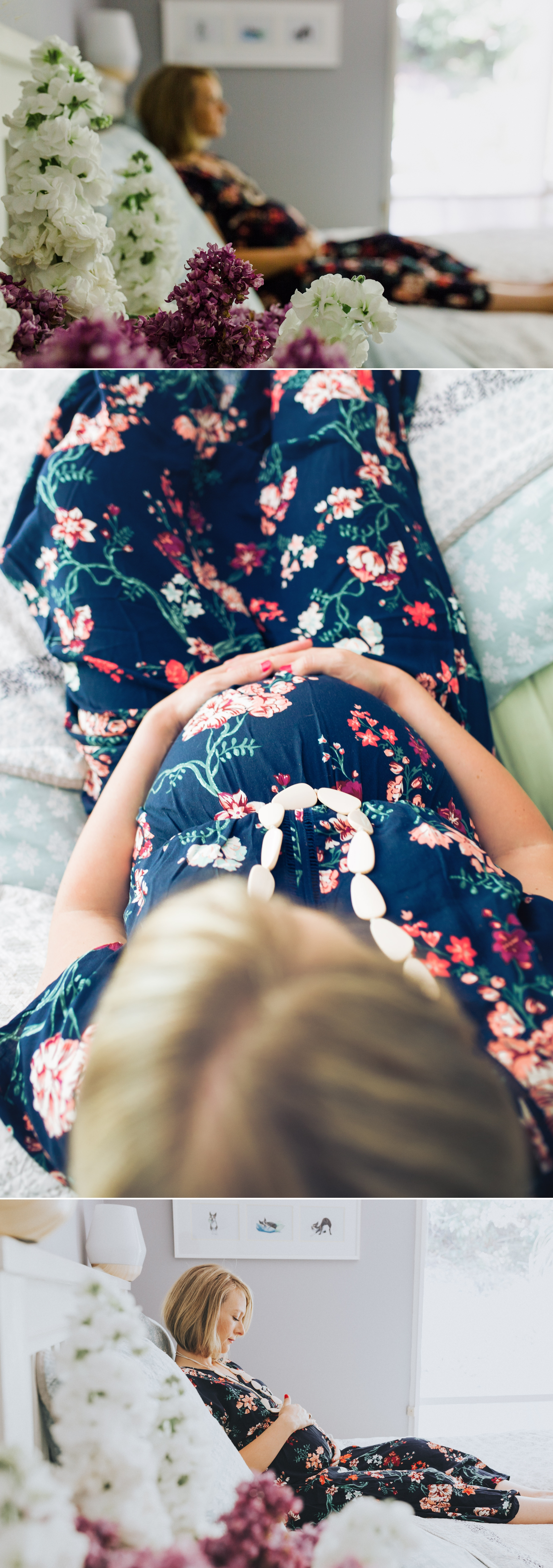 intimate in-home maternity session