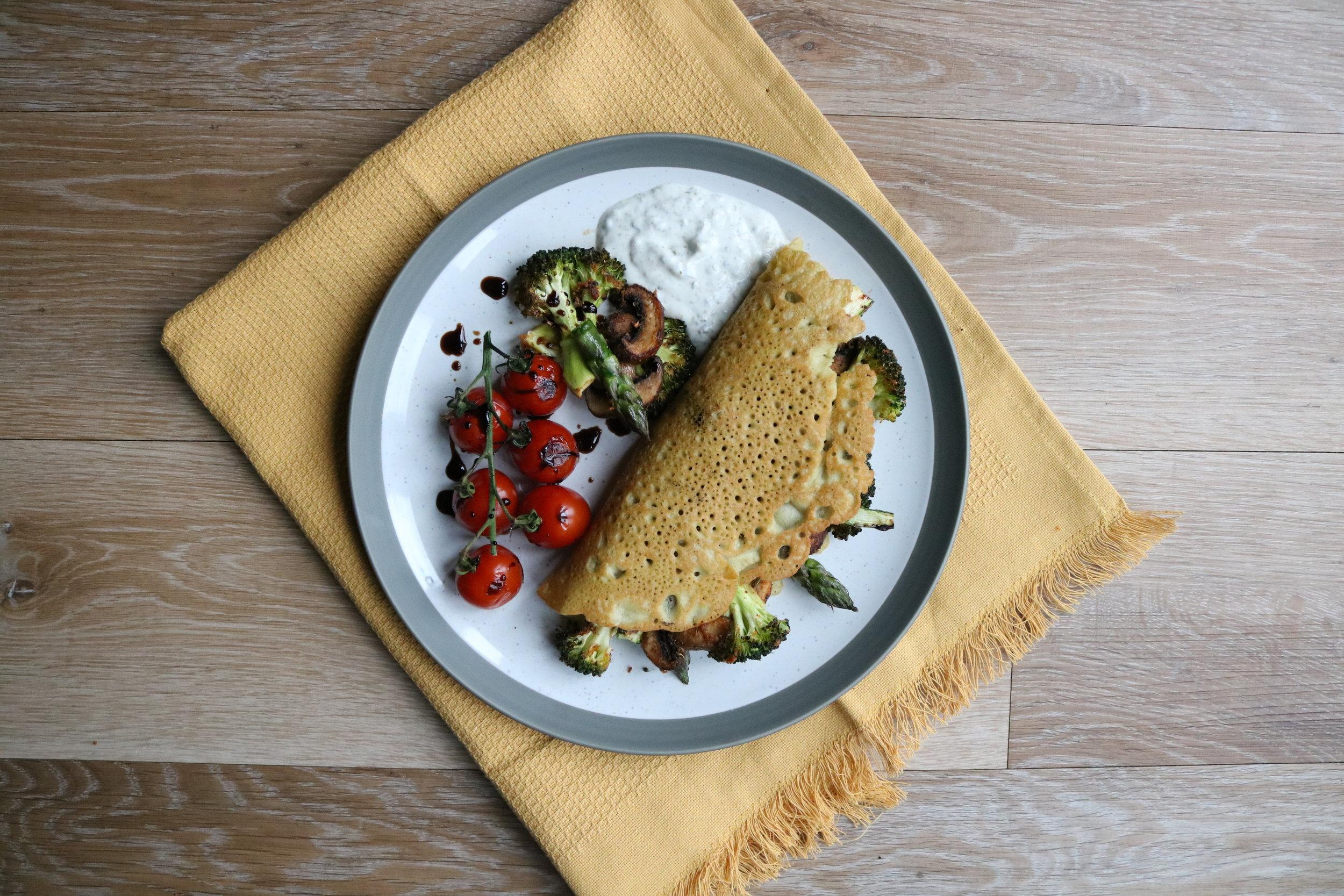 Socca - a savoury Italian pancake