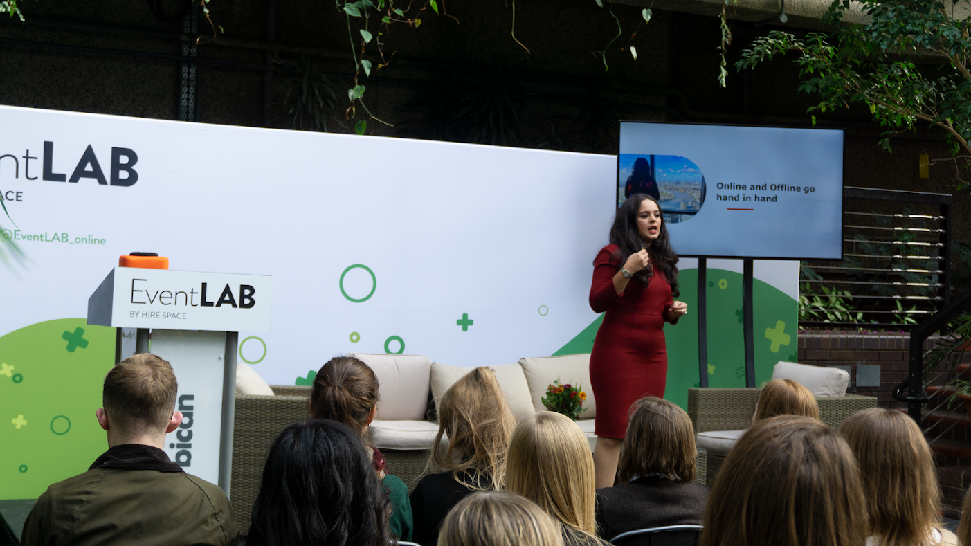 Alexandra Galviz on the EventLAB 2018 Conference Stage