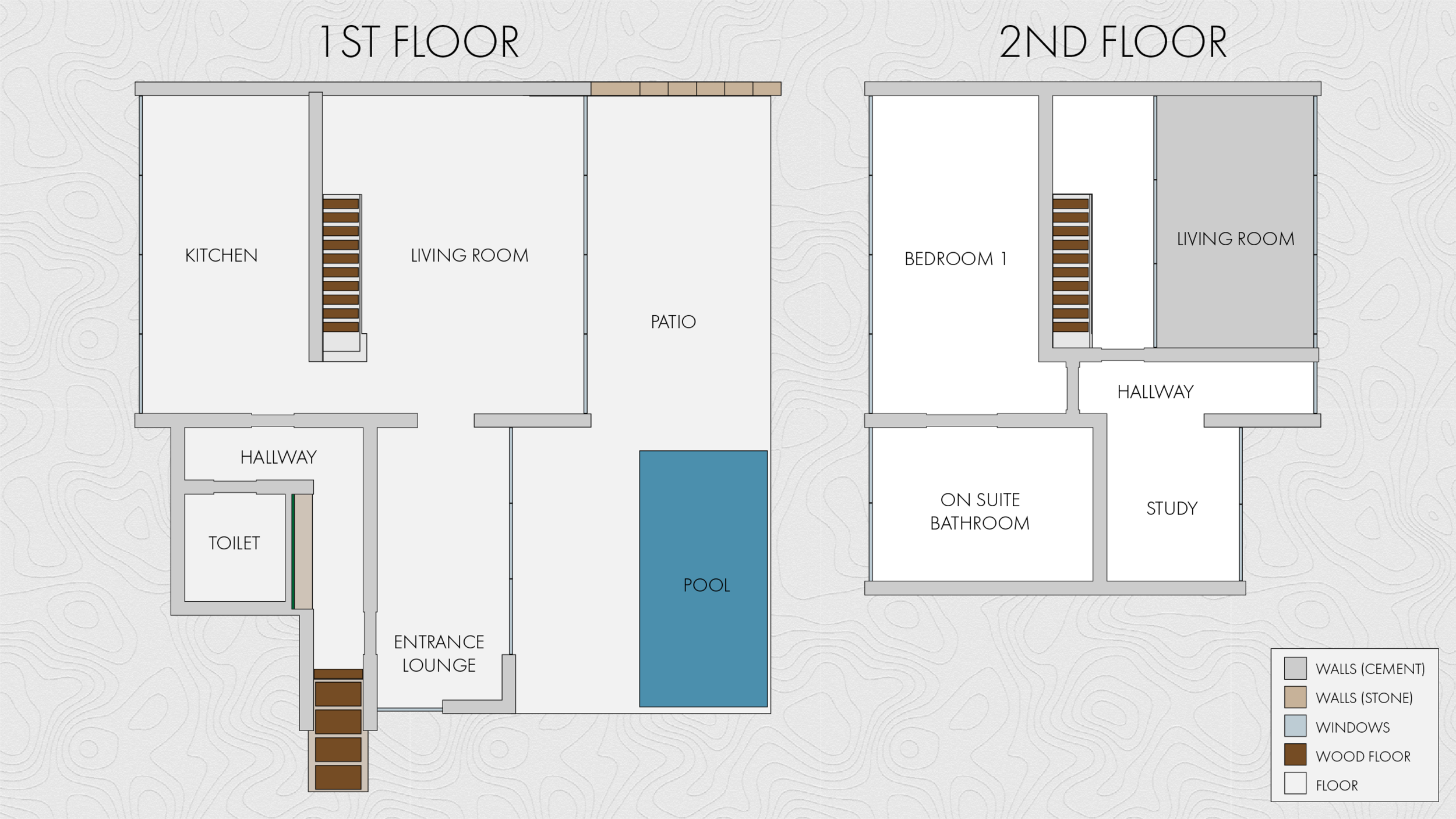 Floor plan of how I want the interior layout to be.