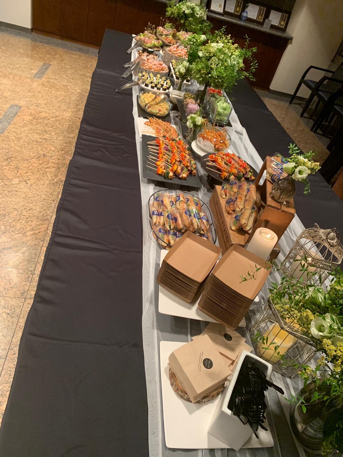 Premierenbuffet im LG Arts Center