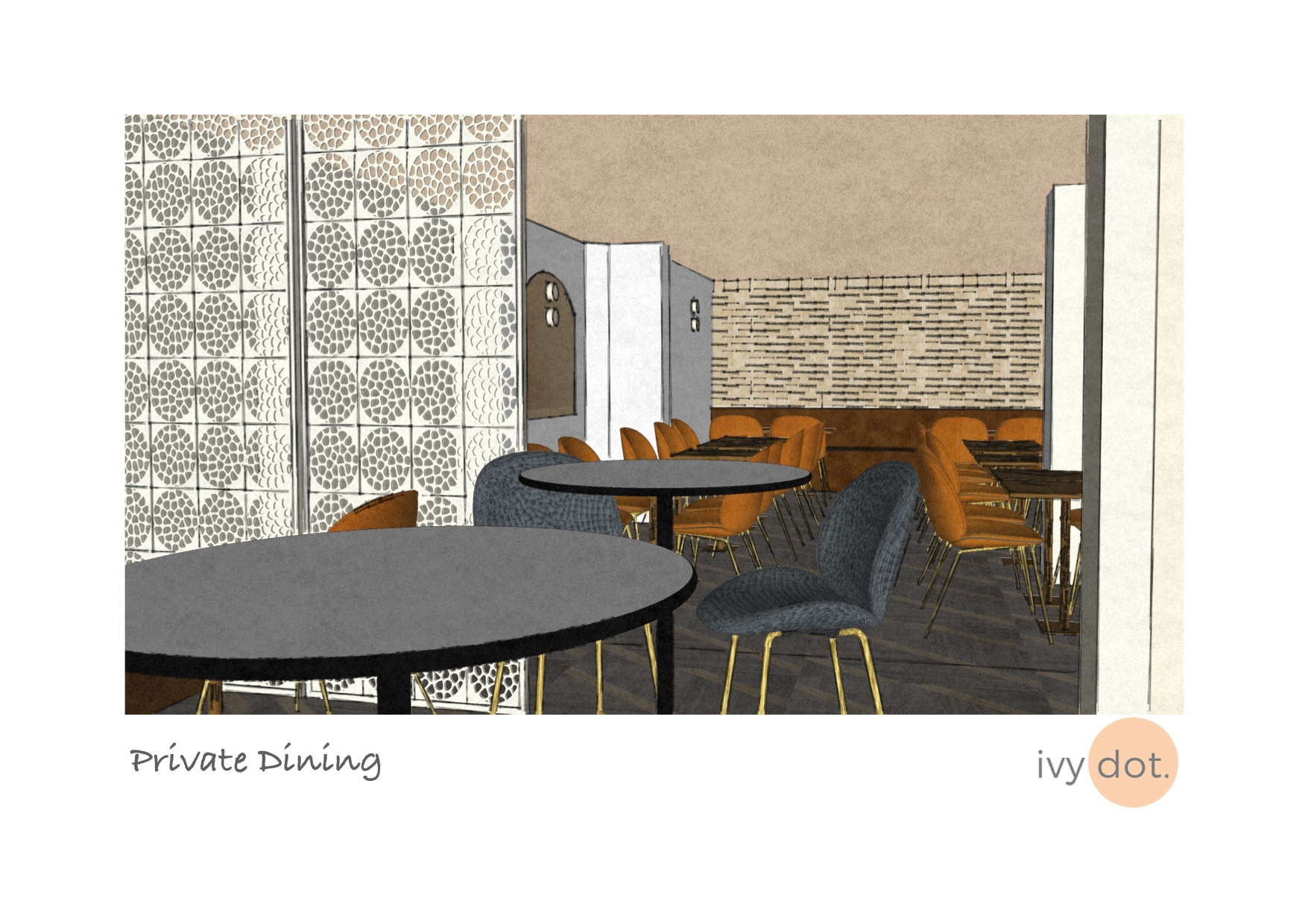 Substantial re-design of a restaurant in Oldham including exterior, concept, moodboards, material samples and floorpans -