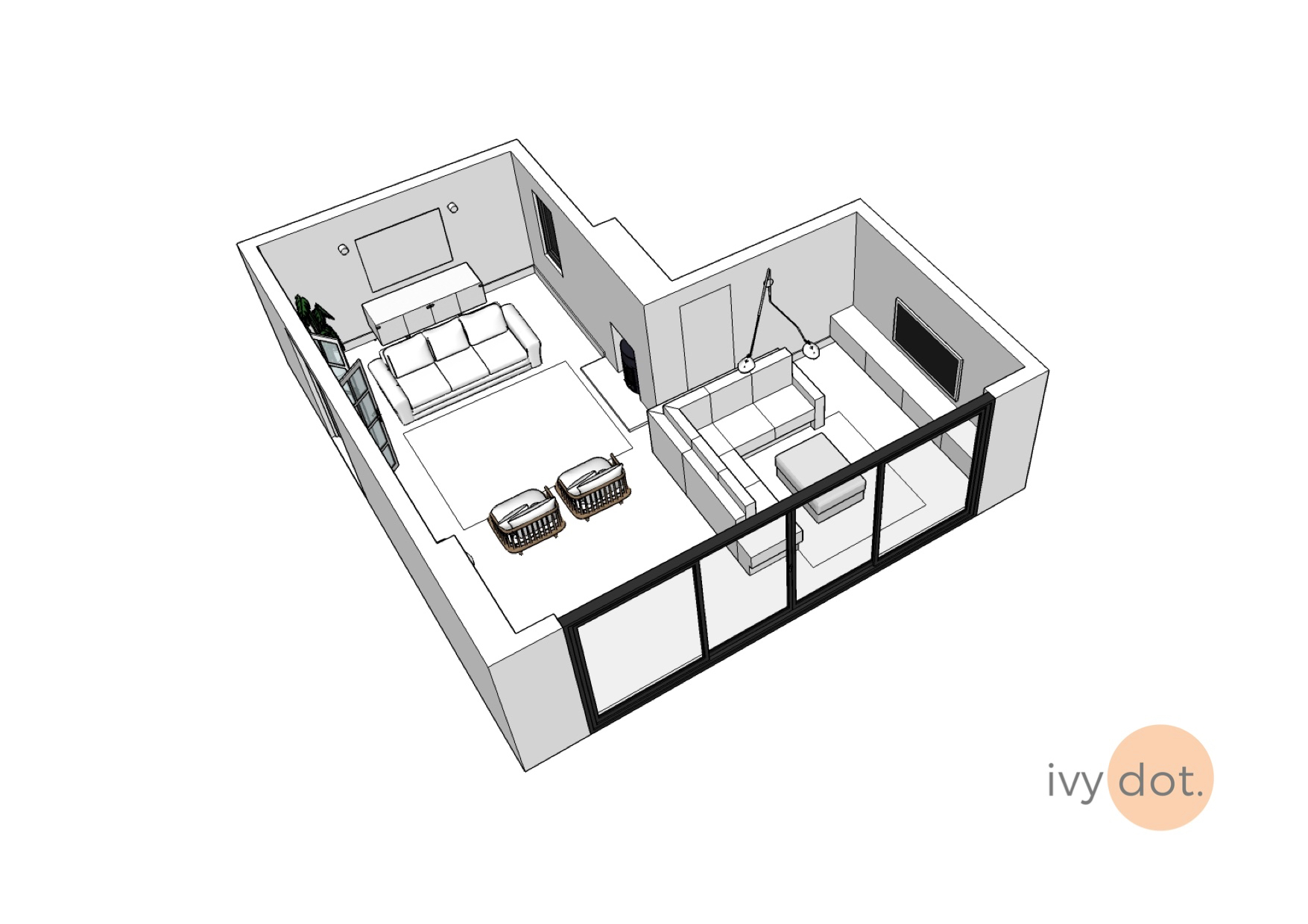 3D visualisation for a proposed extension in Saddleworth -
