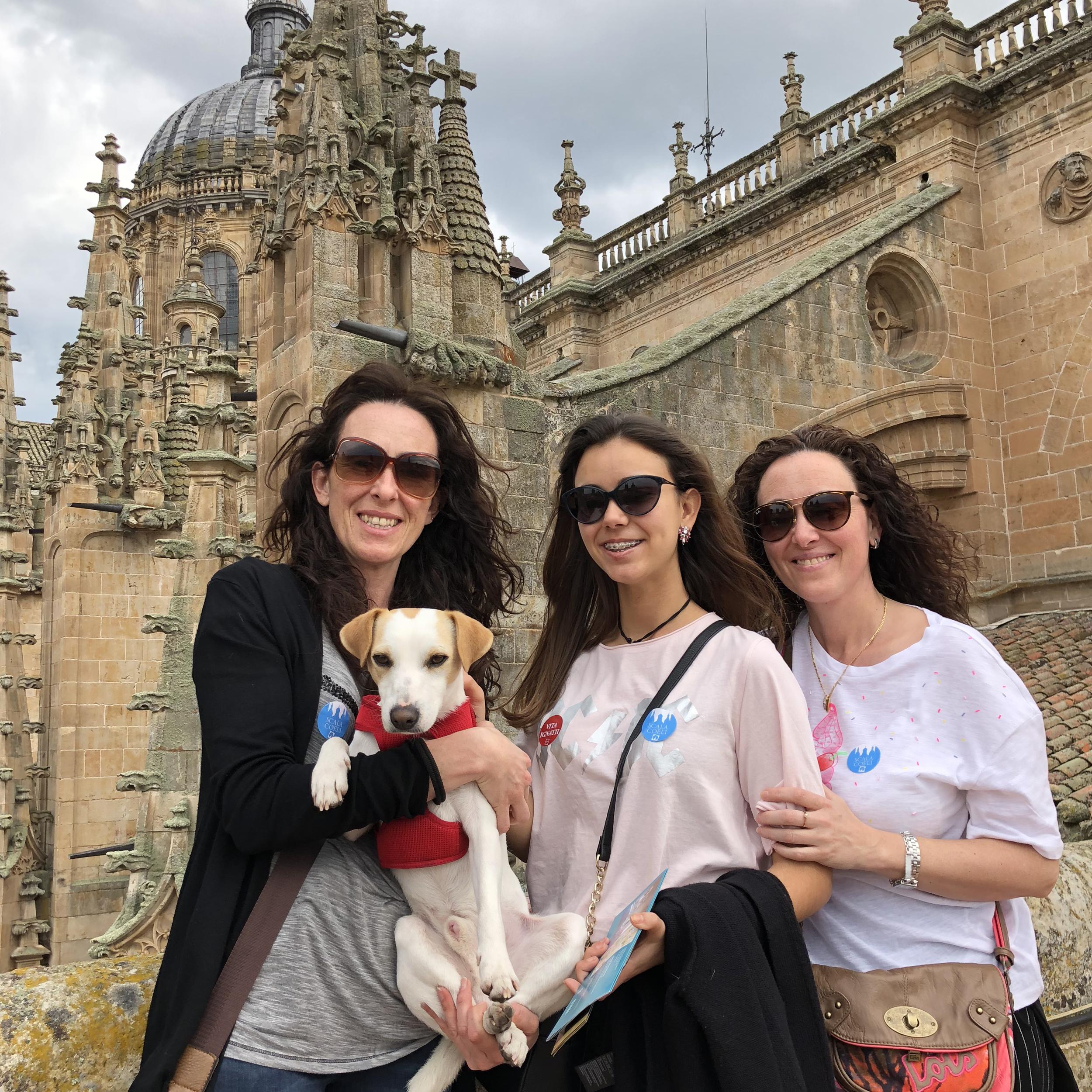 Con Inma, Marta y Paqui.